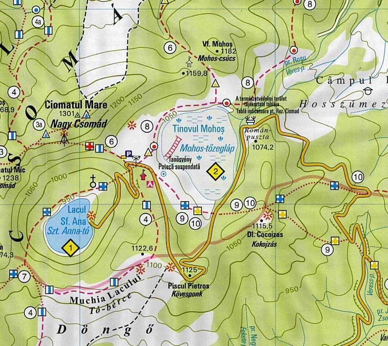 Szt. Anna tó térkép minta