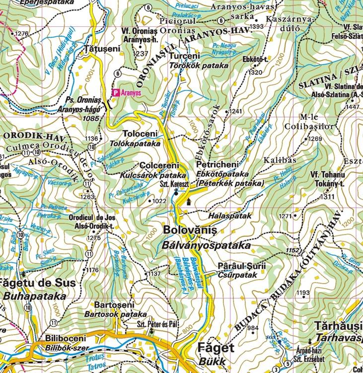 Tar-kő térkép minta