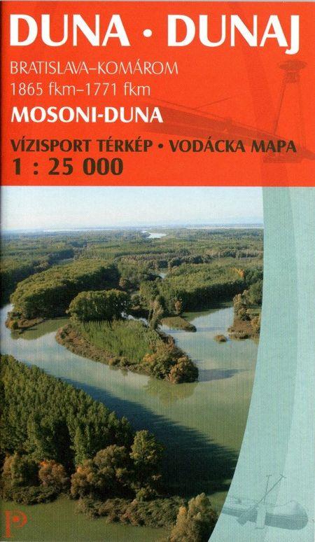 Részletes vizisport térkép: ADuna főága Bratislava-Komárom között + a Mosoni-Duna