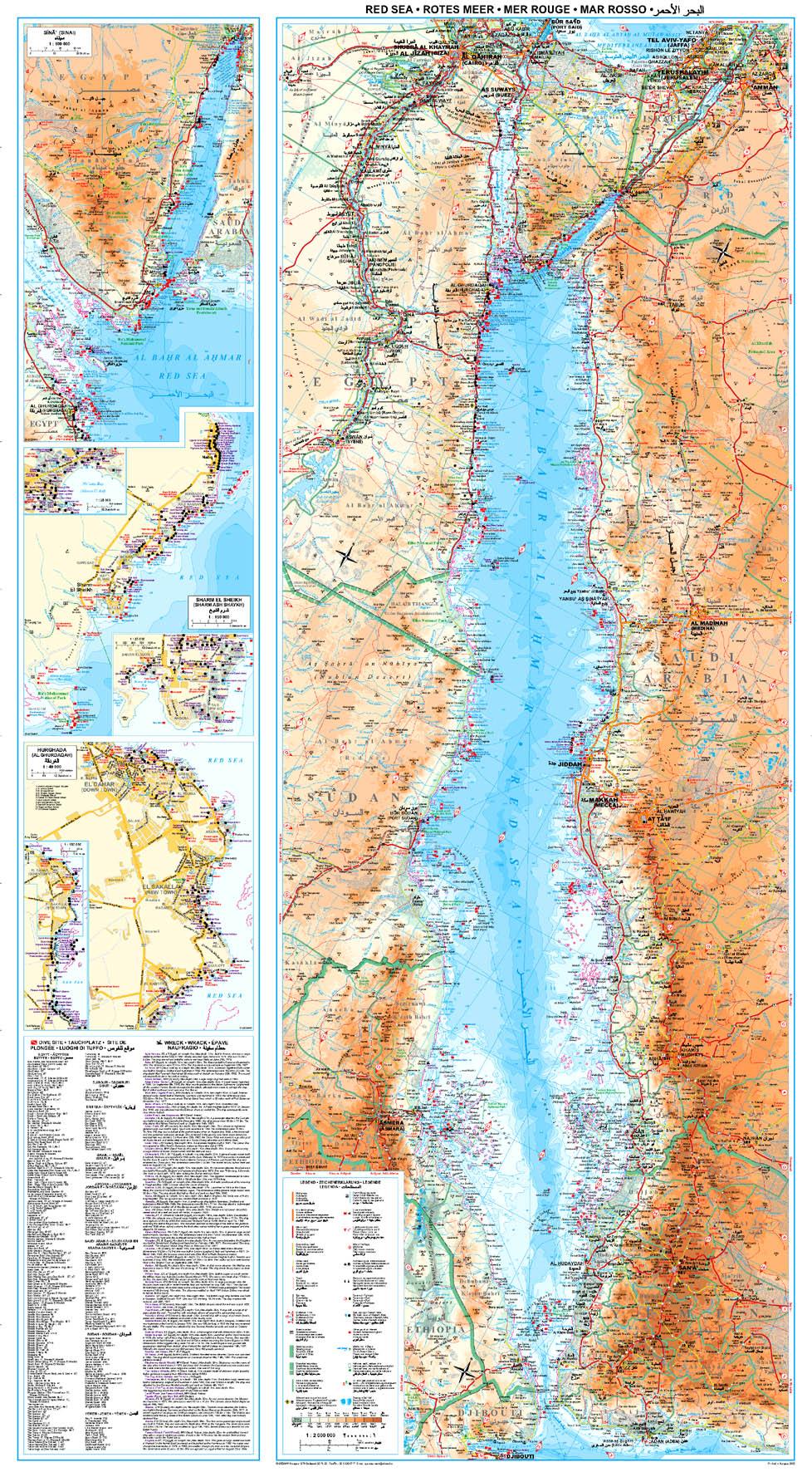 A Vörös-tenger c. térkép által lefedett terület