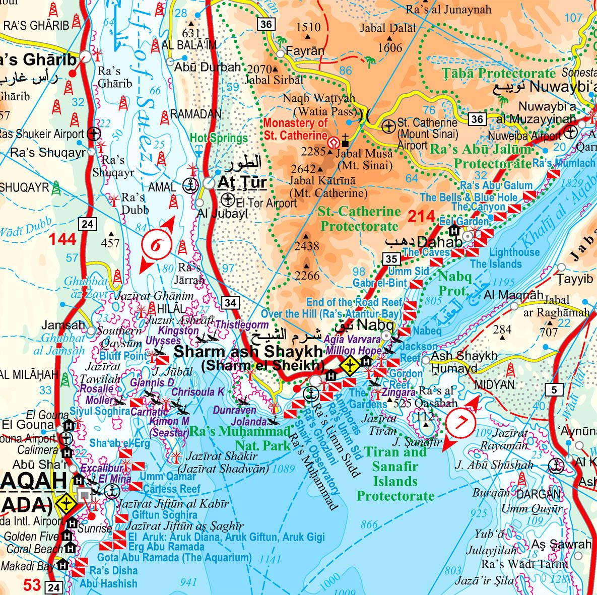 A Vörös-tenger c. térkép mintalapja