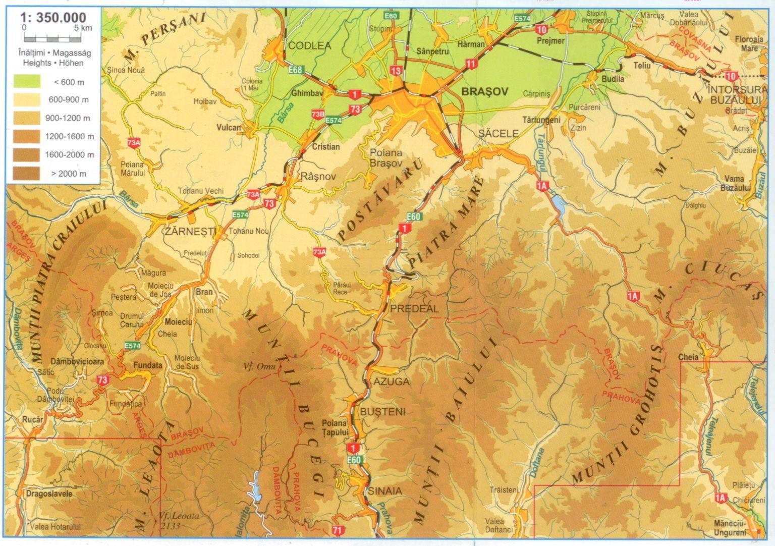 A Kárpát-kanyar térkép által lefedett terület