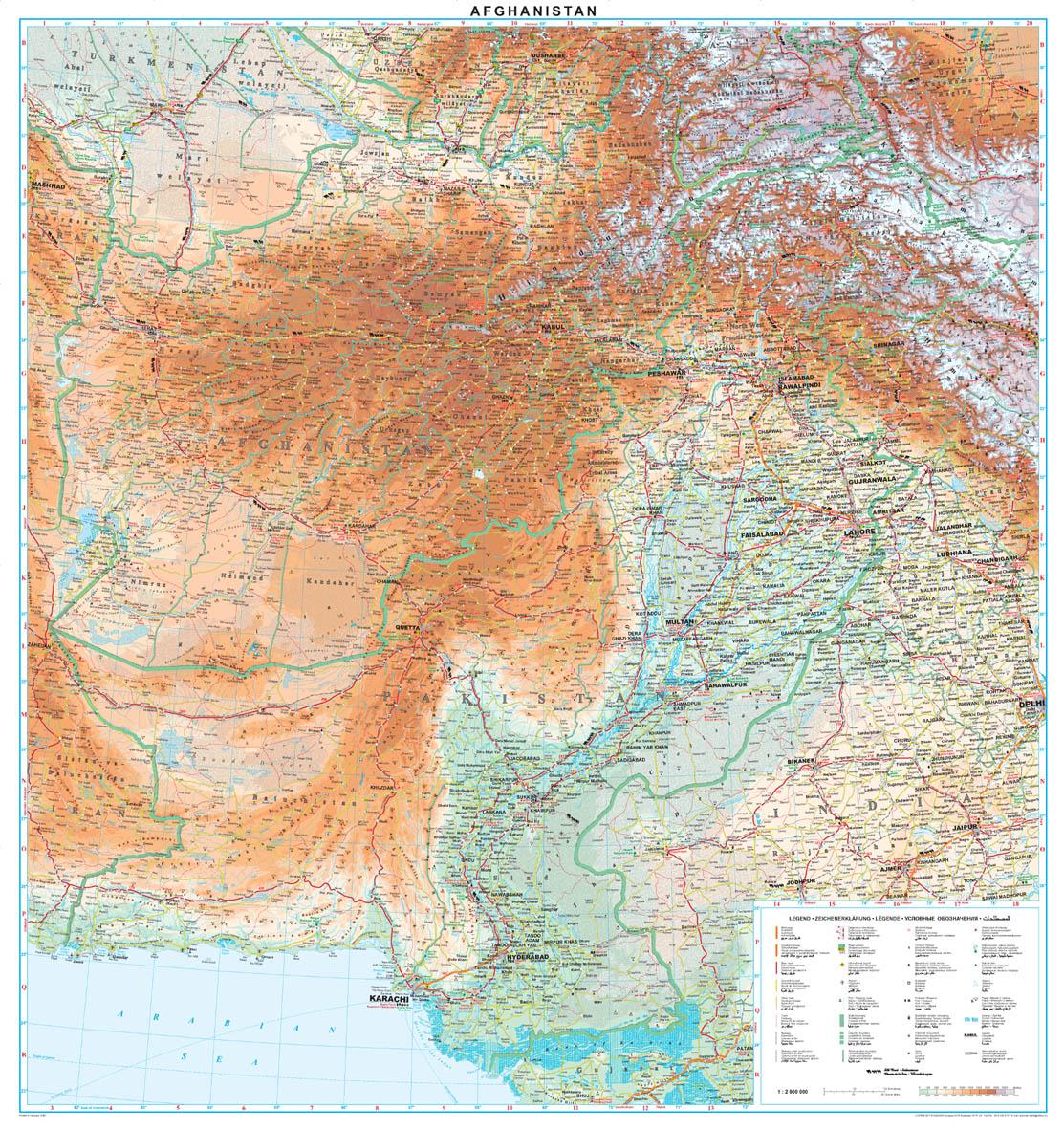 Afganisztán áttekintő térkép