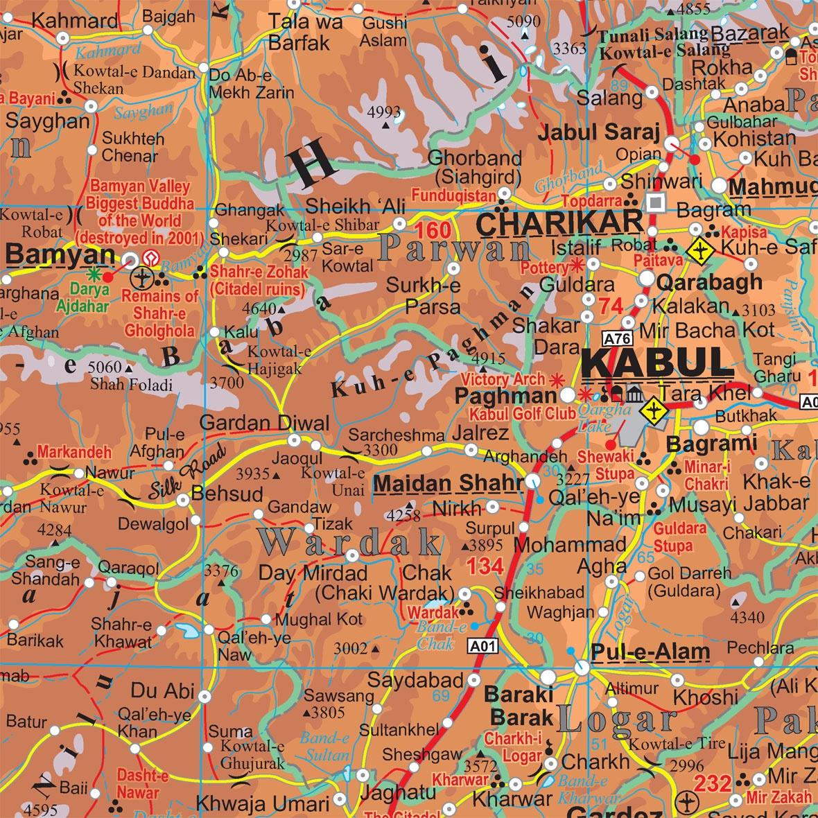Afganisztán térképminta
