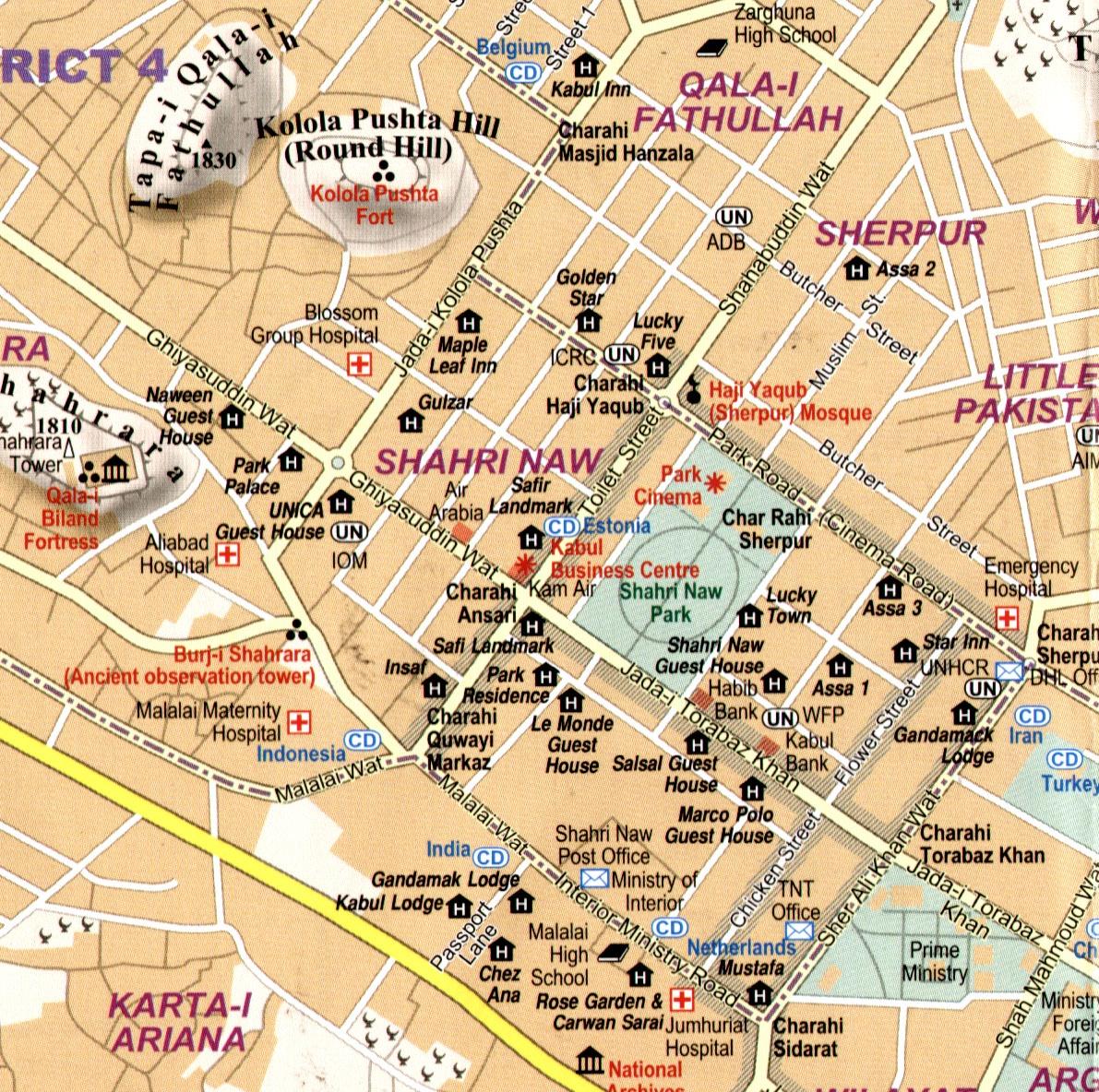 Afganisztán: Kabul térképminta