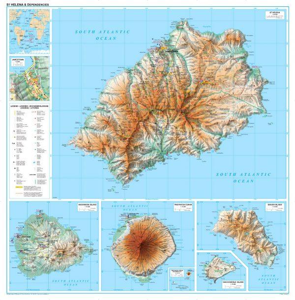 Szent Heléna áttkintő térkép
