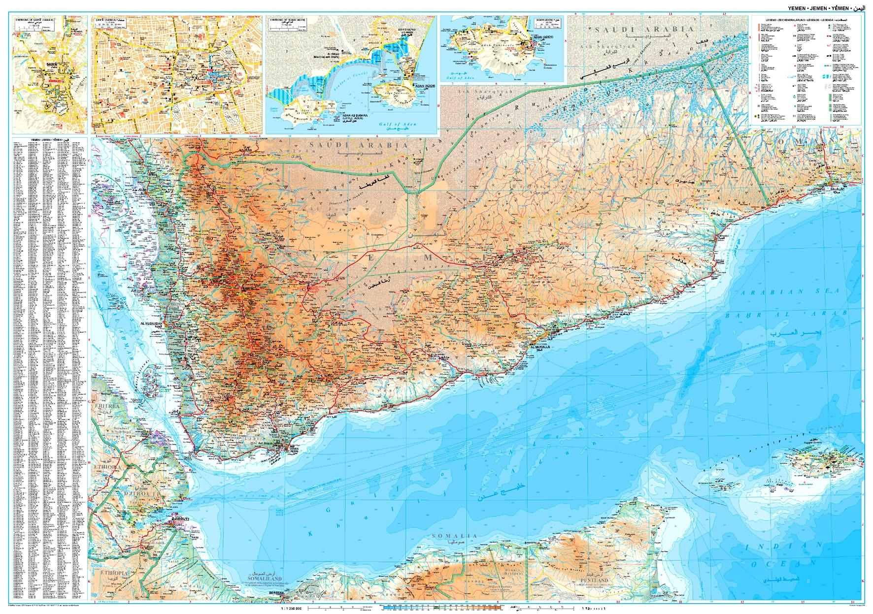 Jemen áttekintő térkép