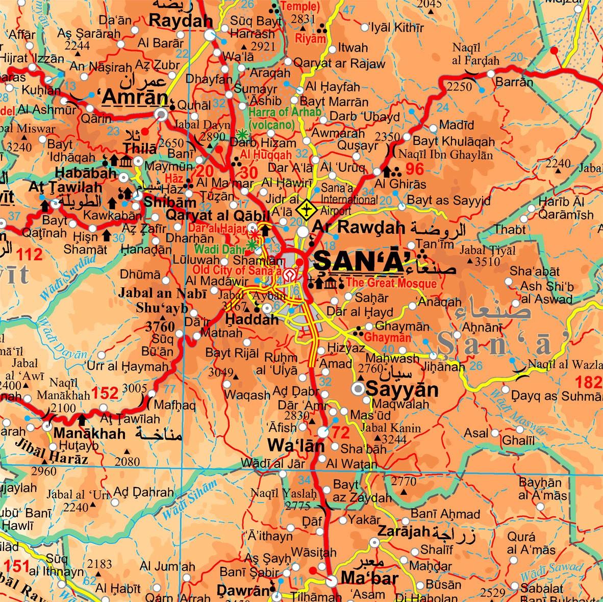 Jemen: térkép minta