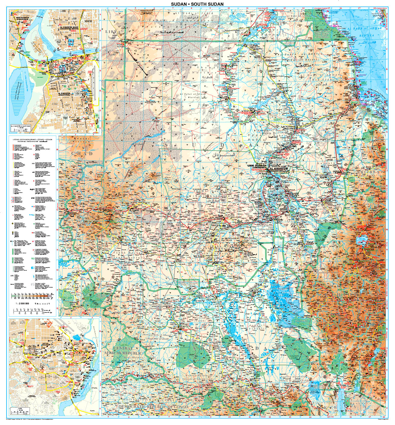 Szudán áttekintő térkép
