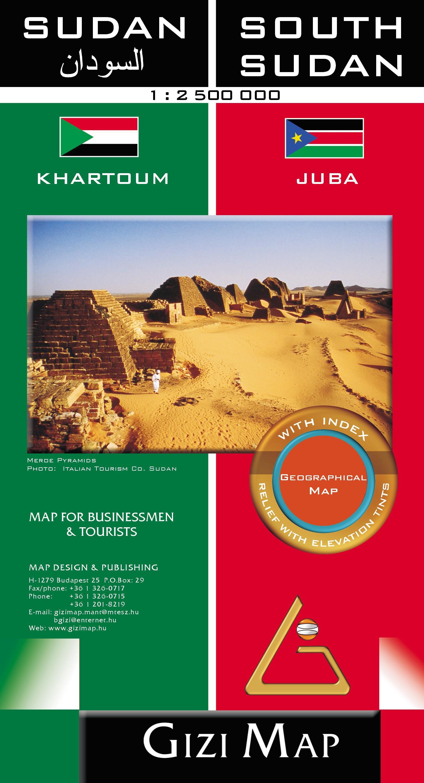 Khartum és Juba melléktérképpel
