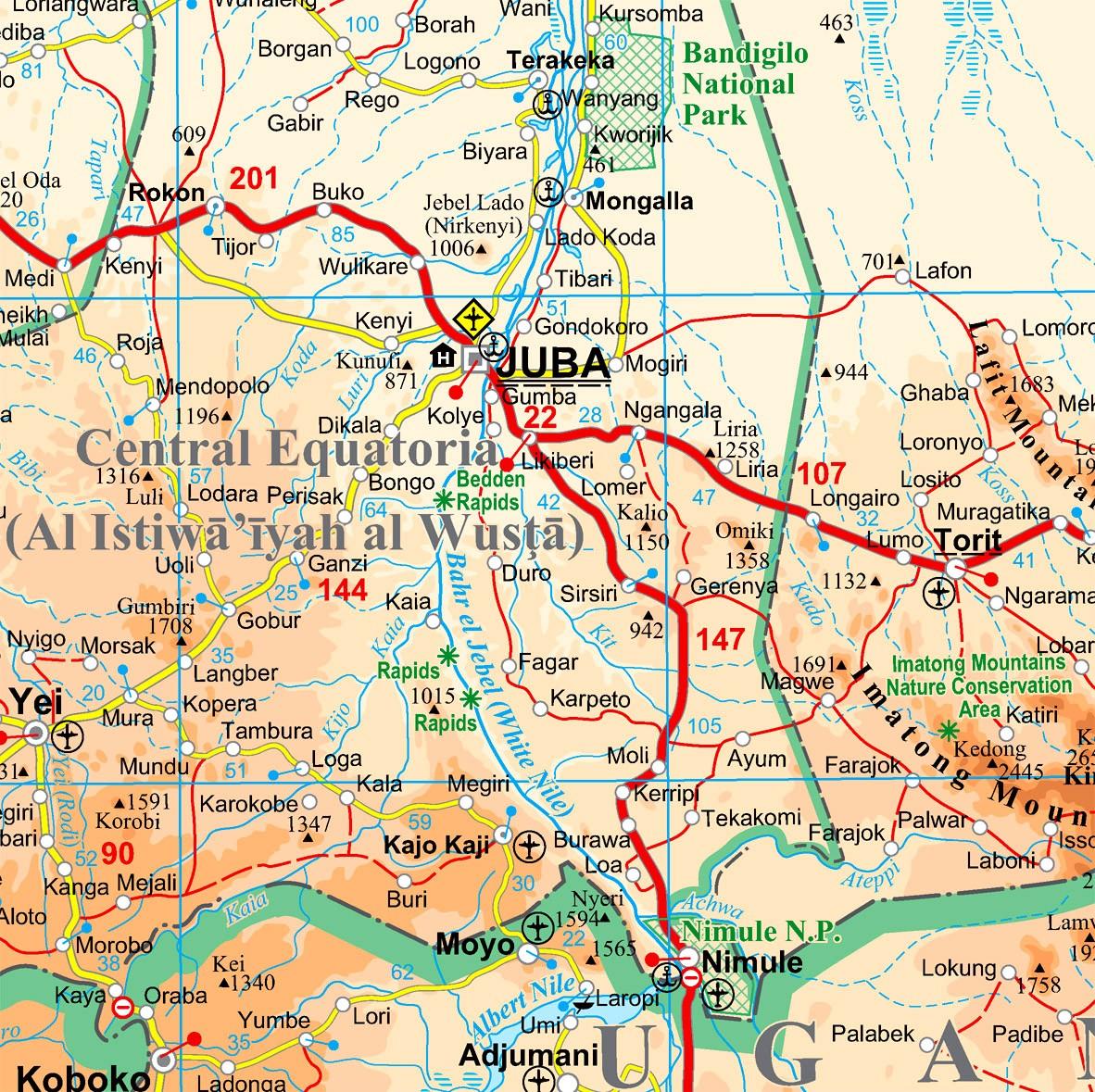 Dél-Szudán: Juba környéke