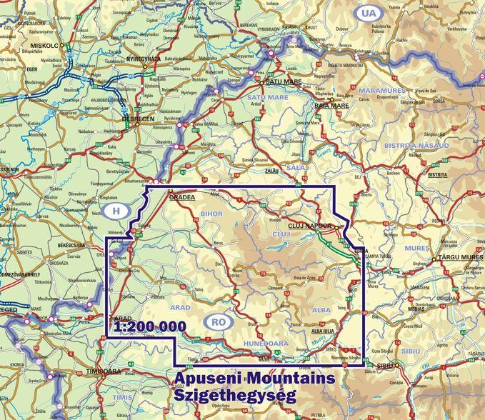 Az erdélyi Szigethegység elhelyezkedése