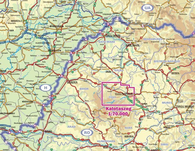 Kalotaszeg elhelyezkedése a térképen