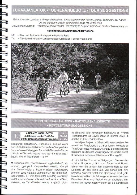 Tisza-tó biciklis atlasz útvonal ajánlat minta