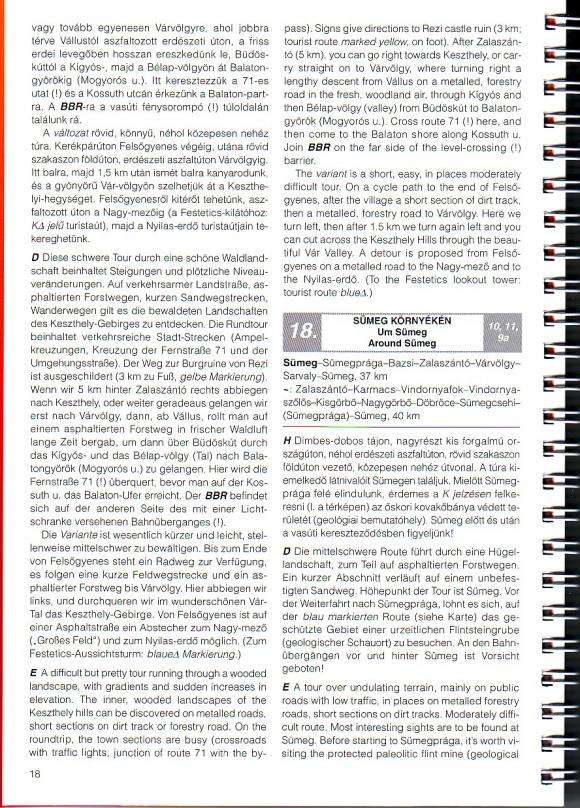 Balaton biciklis atlasz: Útvonal ajánlat mintalap