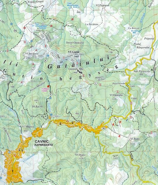 Gutin térképminta