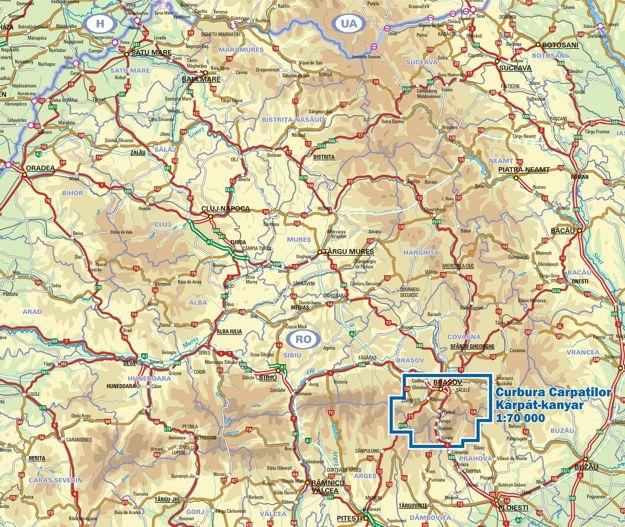 Kárpát-kanyar a térképen