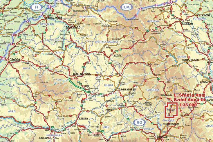 Szent Anna-tó a térképen