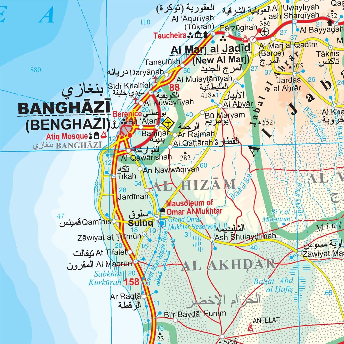 Libia térképminta