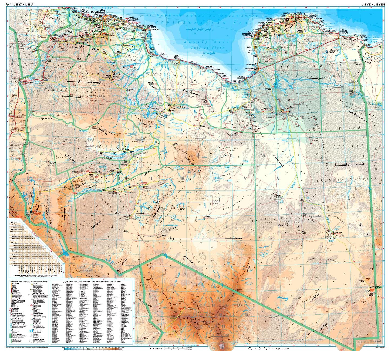 Libia áttekintő térkép