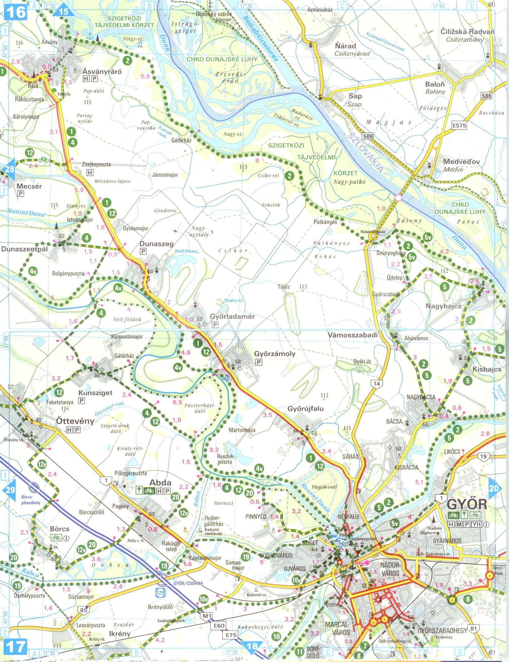 Kiaslföld biciklis atlasz mintatérkép