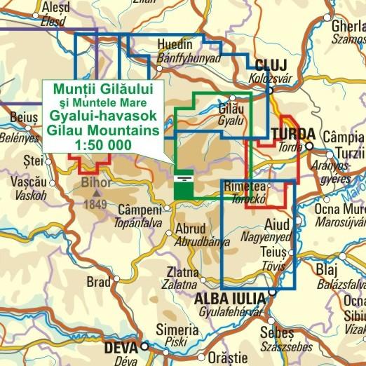 A Gyalui-havasok térkép környezete itt látható