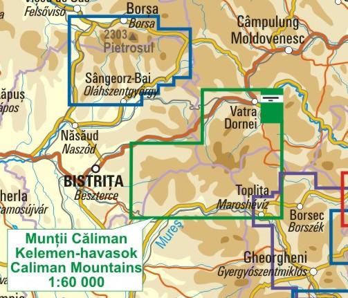 A Kelemen-havasok térkép környezete itt látható