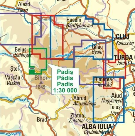 A Pádis térkép környezete itt látható