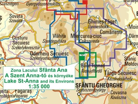 A Szent-Anna-tó térkép környezete itt látható