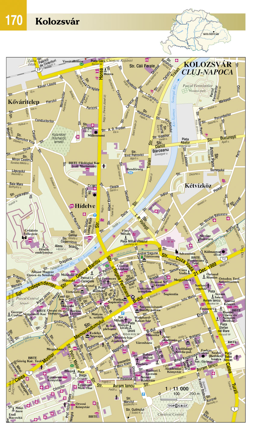 Kárpát-medence atlasz: várostérkép minta