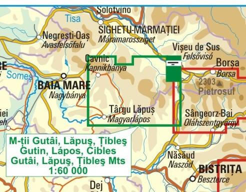 A Gutin térkép környezete itt látható