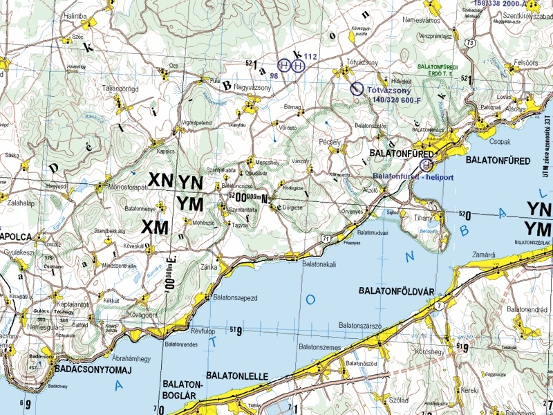 Helikopter térkép (kivágat a 22-es szelvényből)
