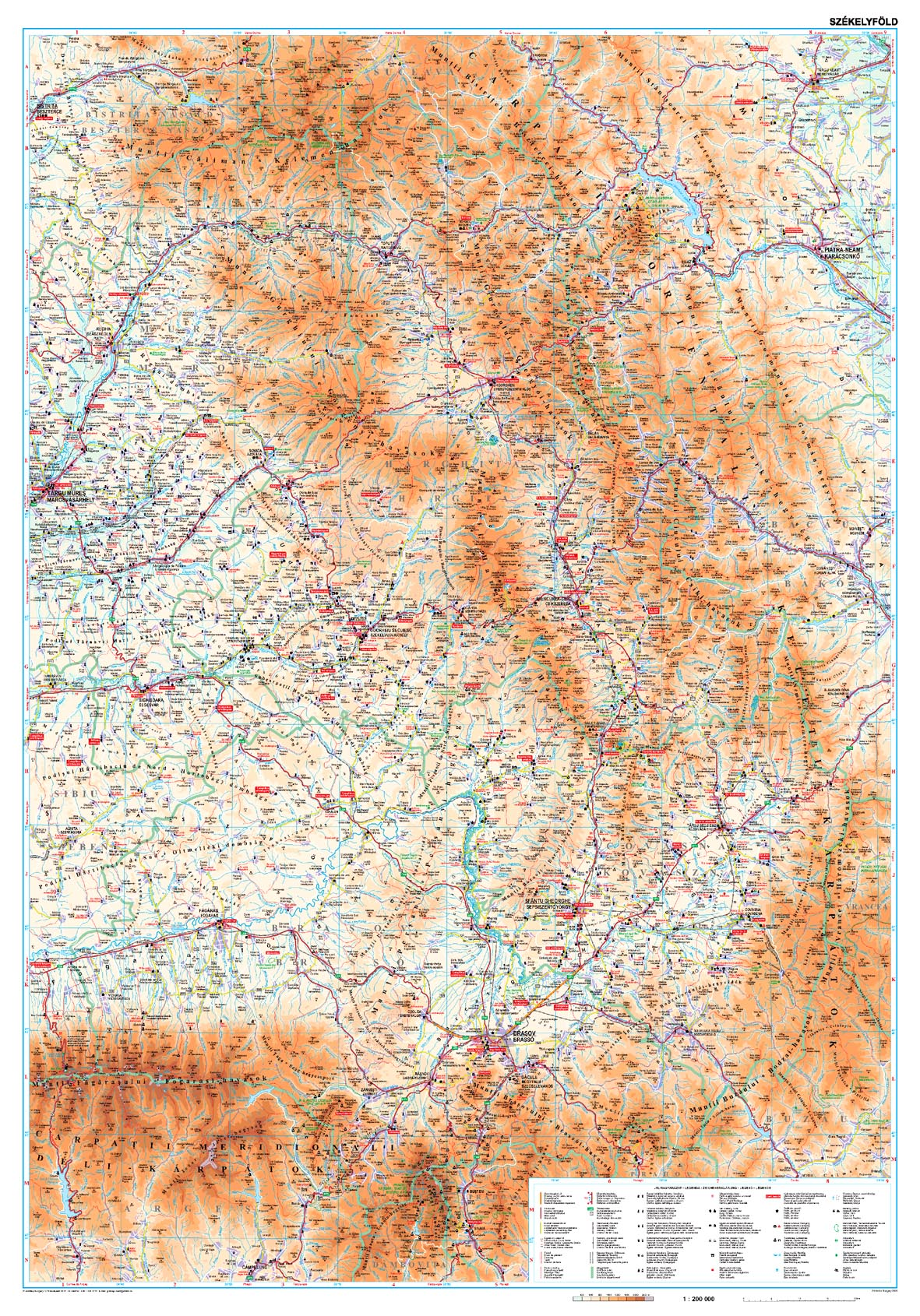 Székelyföld áttekintõtérképe