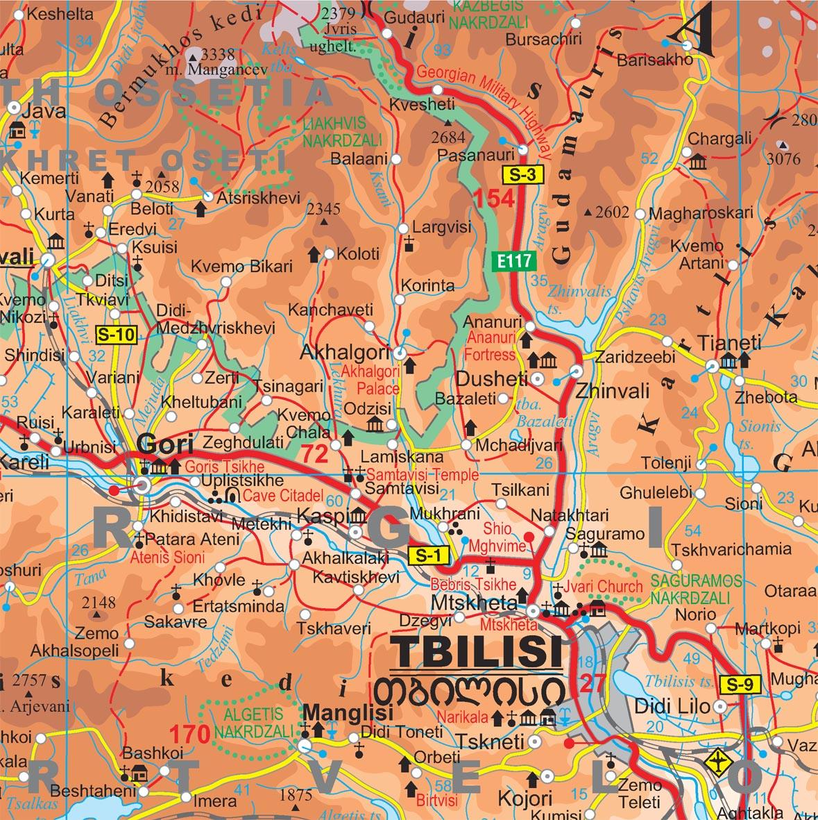 Kaukázus térképminta