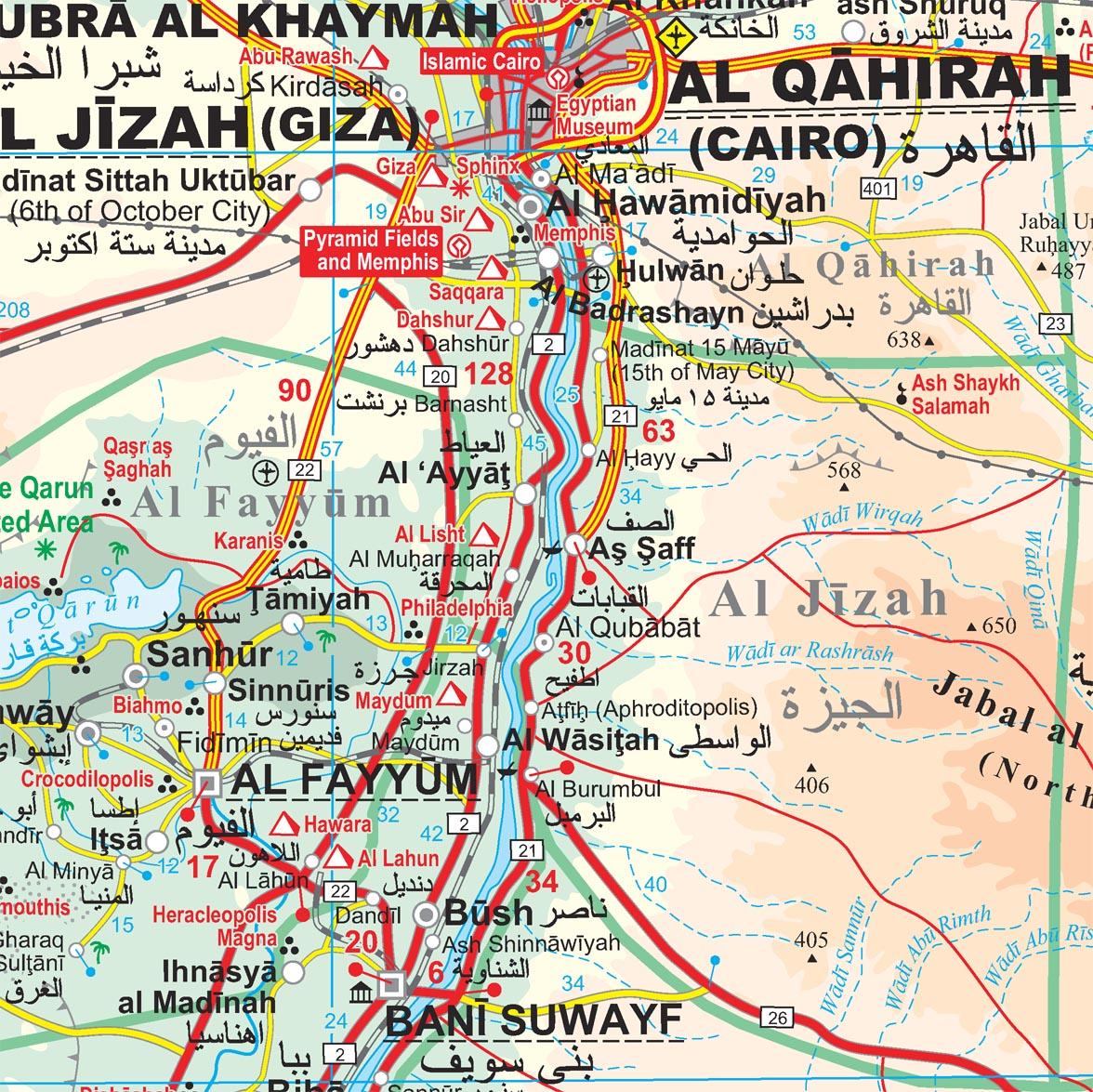 Egyiptom: térképminta
