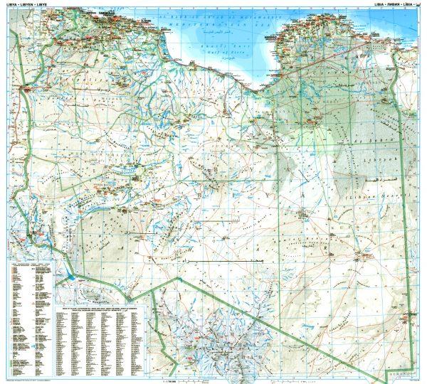 Libia áttekintõ térkép