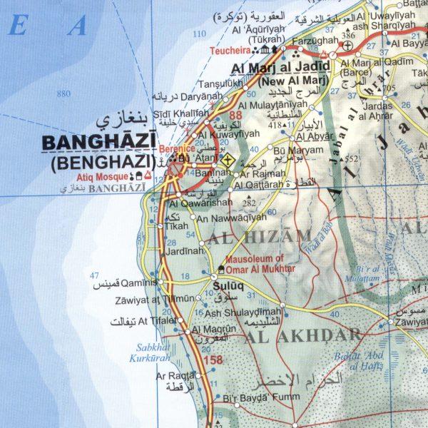 Libia: térkép minta