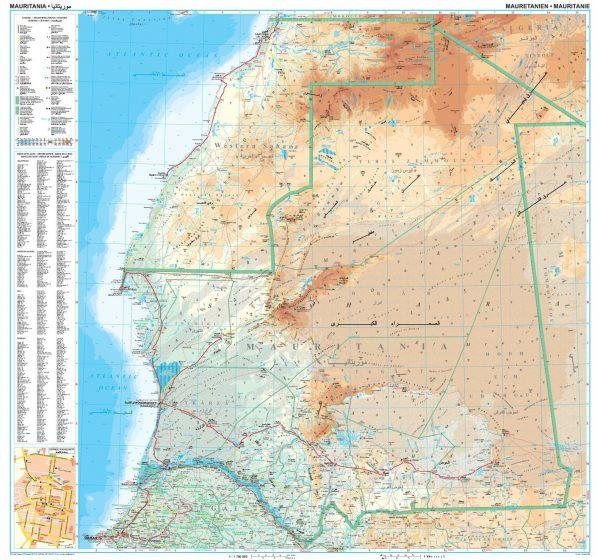 Mauritánia: áttekintõ térkép