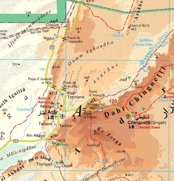 Mauritánia: térkép minta