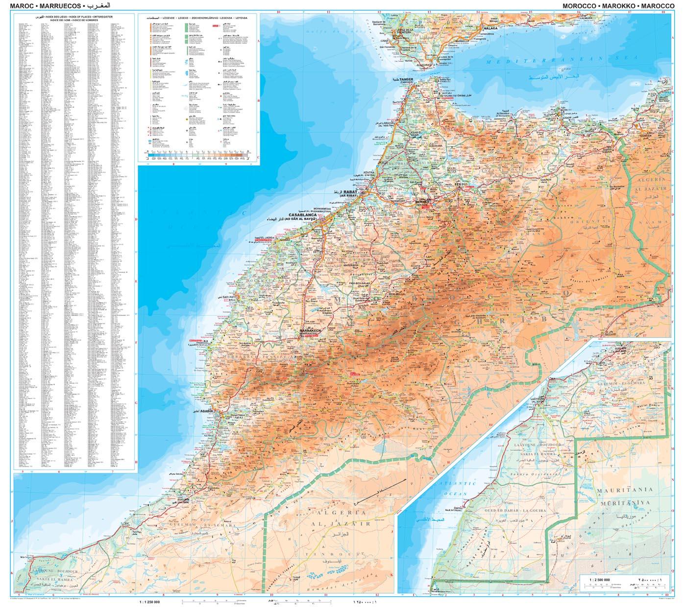 Marokkó: áttekintõ térkép