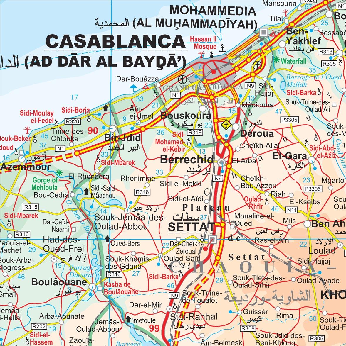 Marokkó: térkép minta