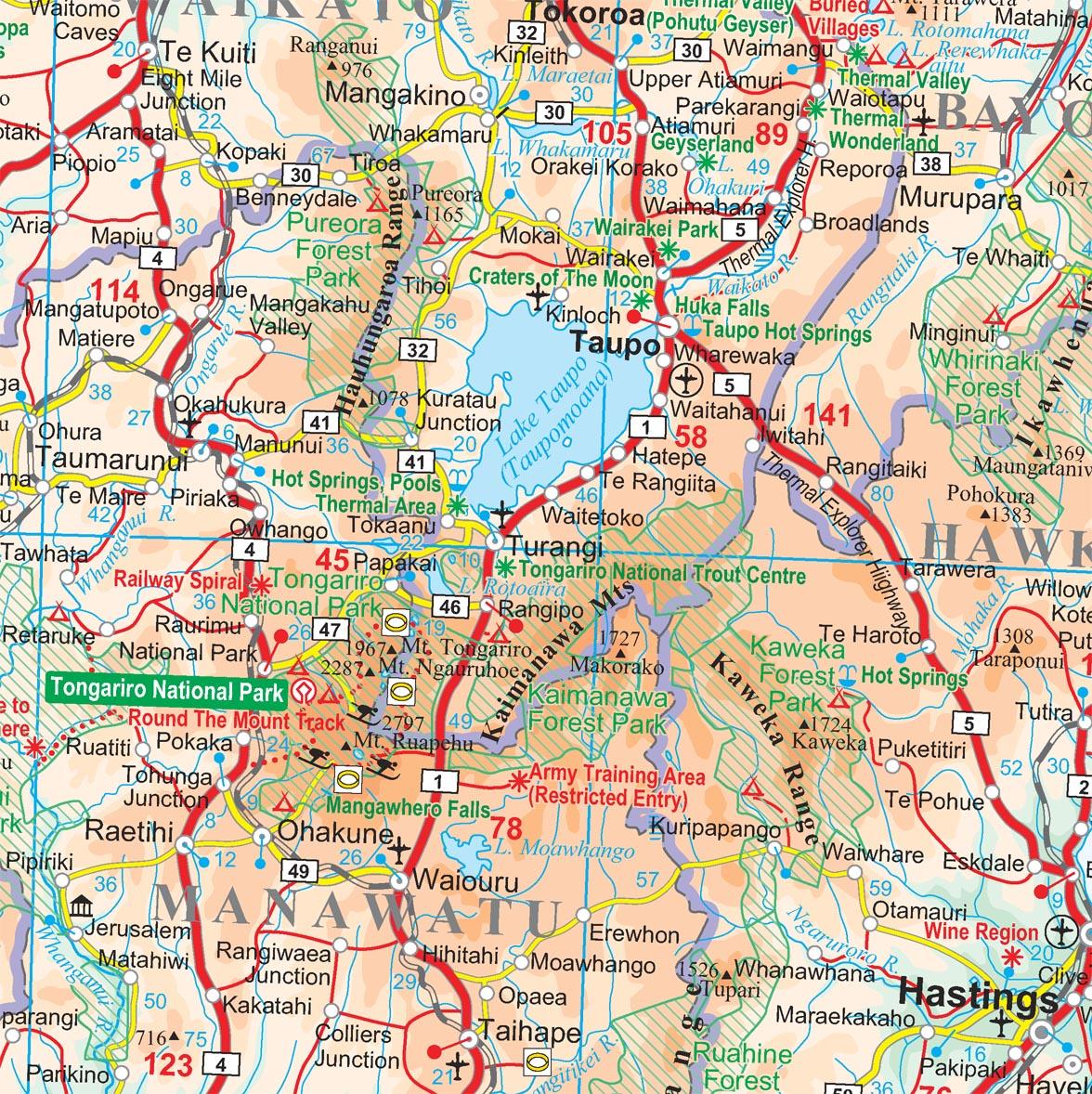 Új-Zéland: térkép minta