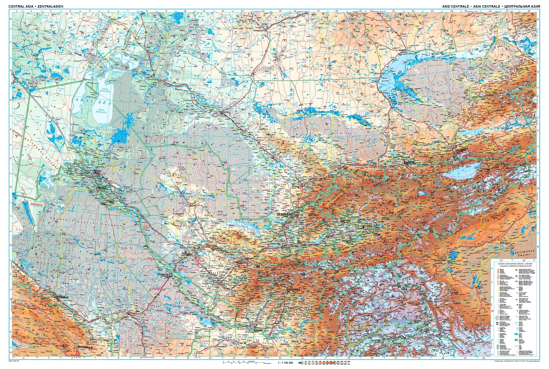Közép-Ázsia áttekintõ térképe