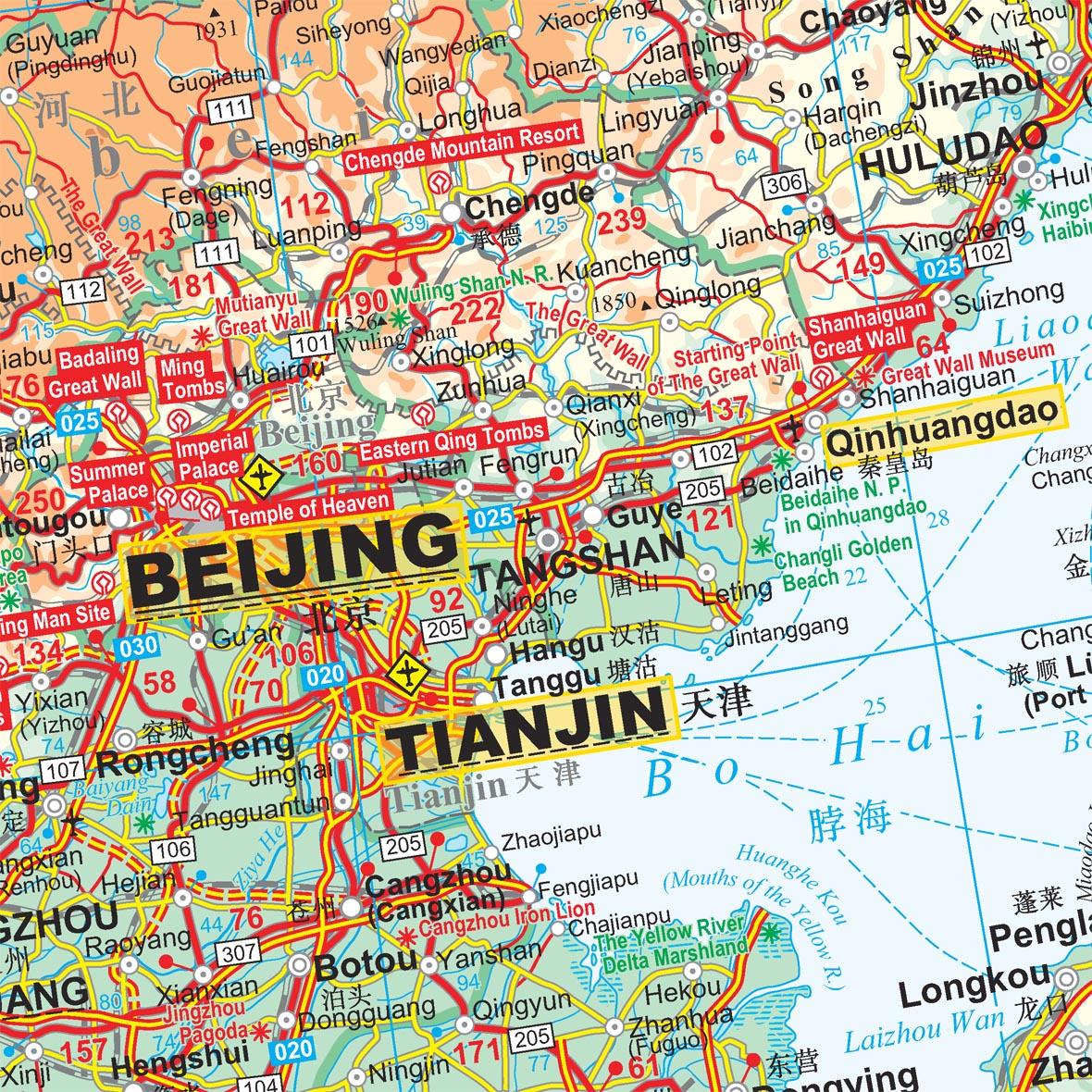 Kína földrajzi térkép: mintakivágat