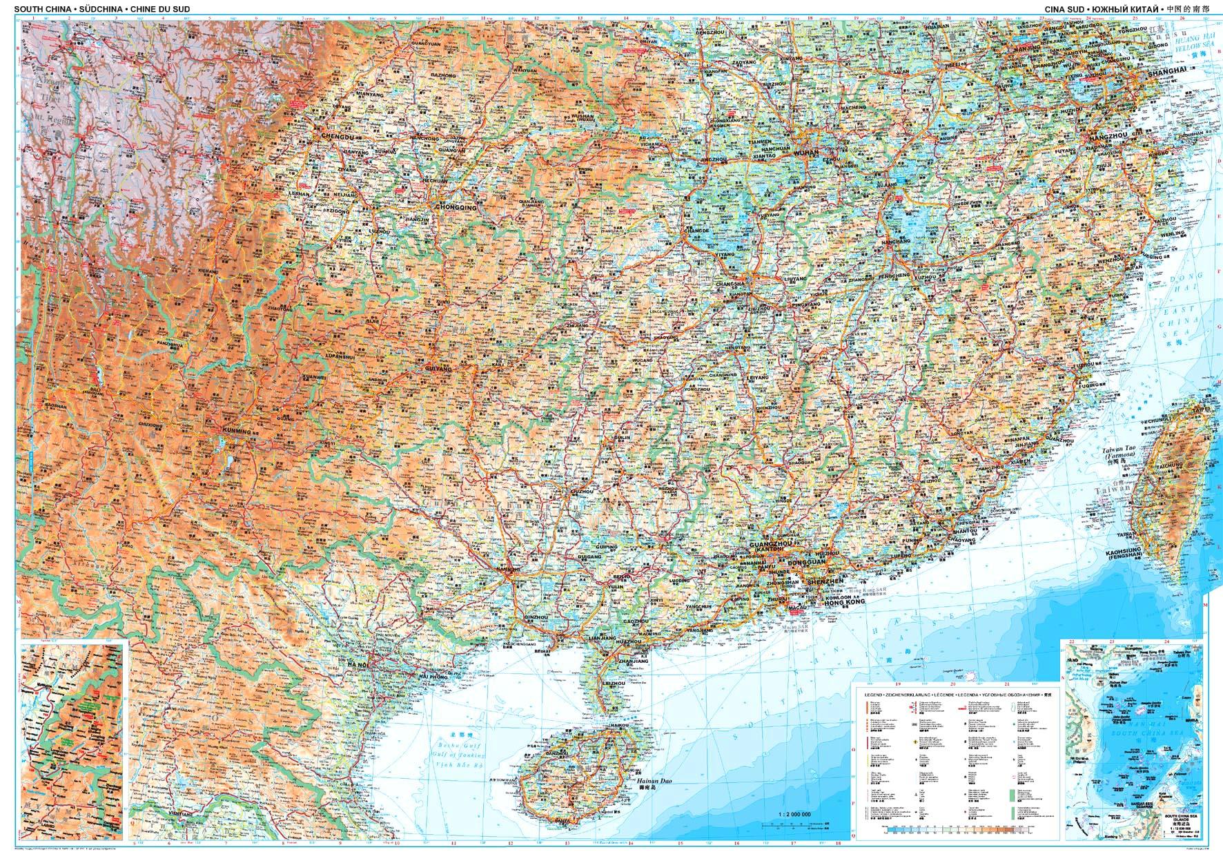 Kína déli része: áttekintõ térkép