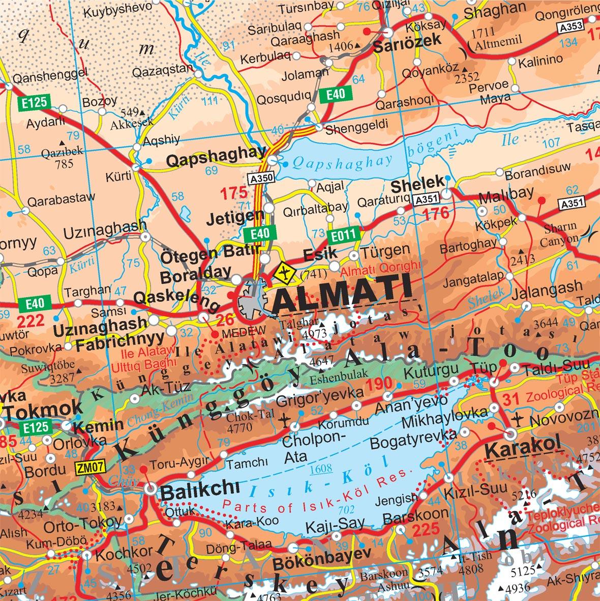 Kazahsztán térképminta