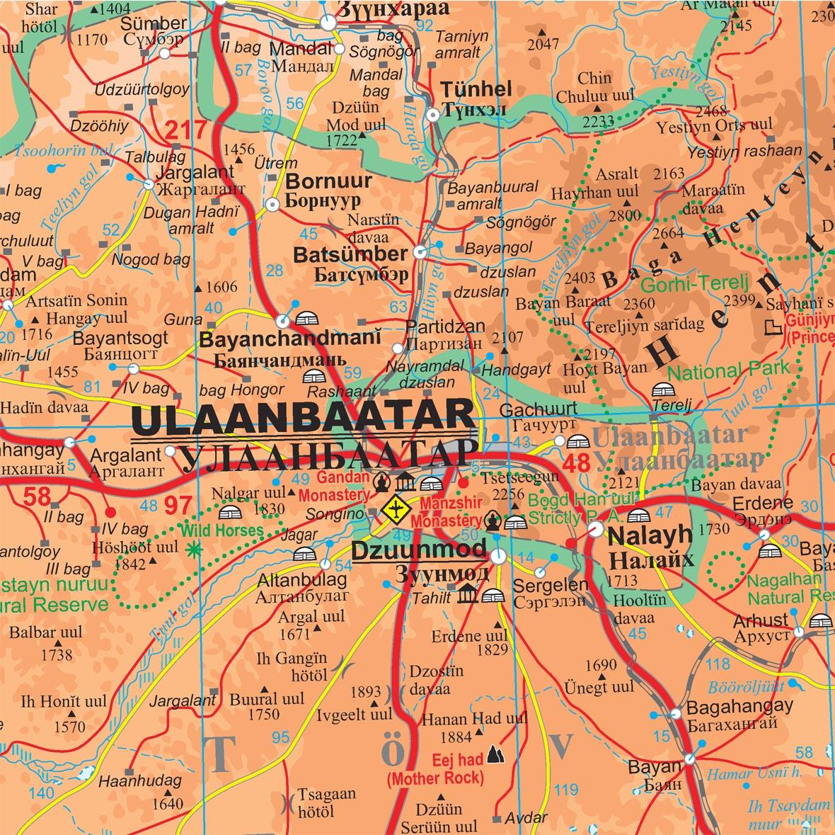 Mongólia: térkép minta