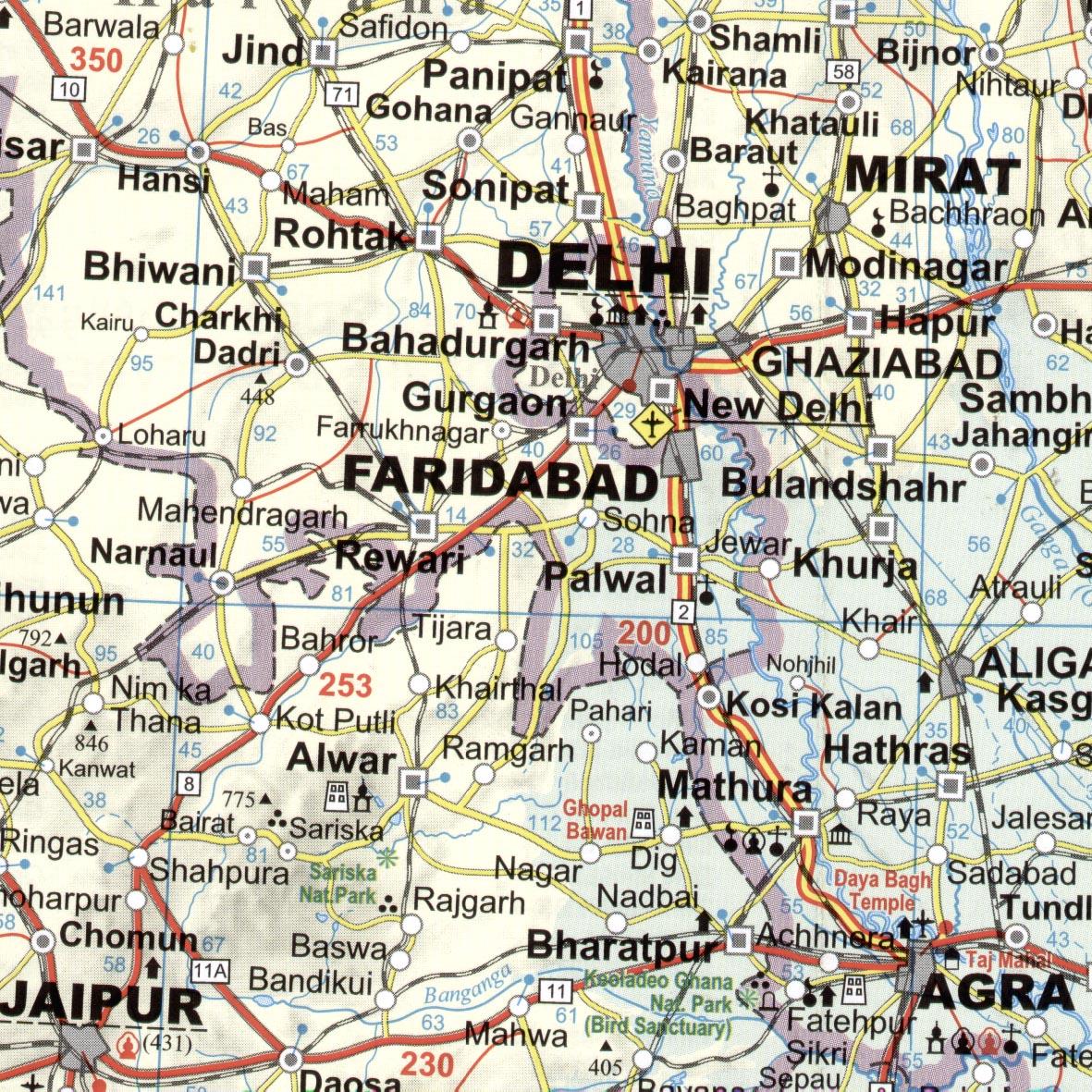 India: minta térkép