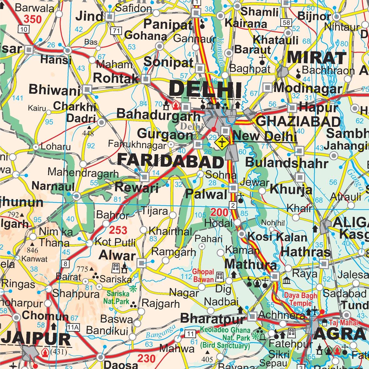 India: térkép minta