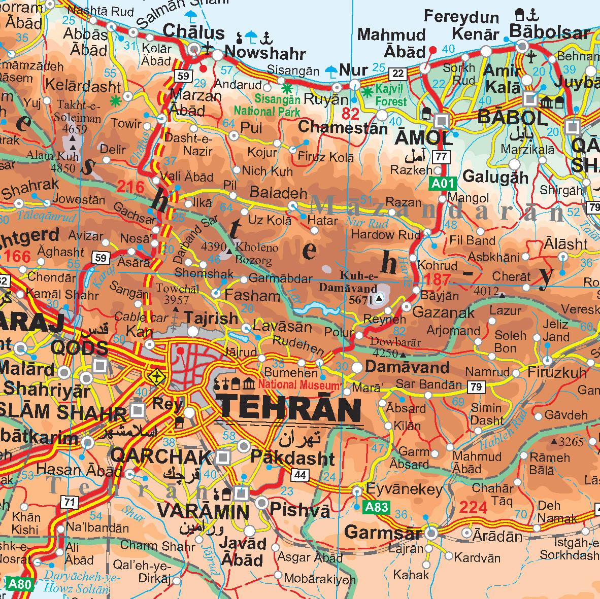 Irán: térkép minta